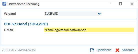 Elektronische Rechnungen per ZUGFeRD mit TAIFUN