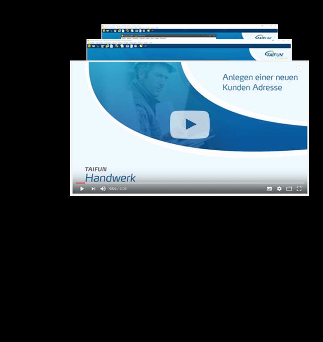 Schulungsvideos zur TAIFUN Handwerkersoftware