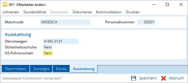 Spezielle Informationen mit SQL-Zusatztabellen