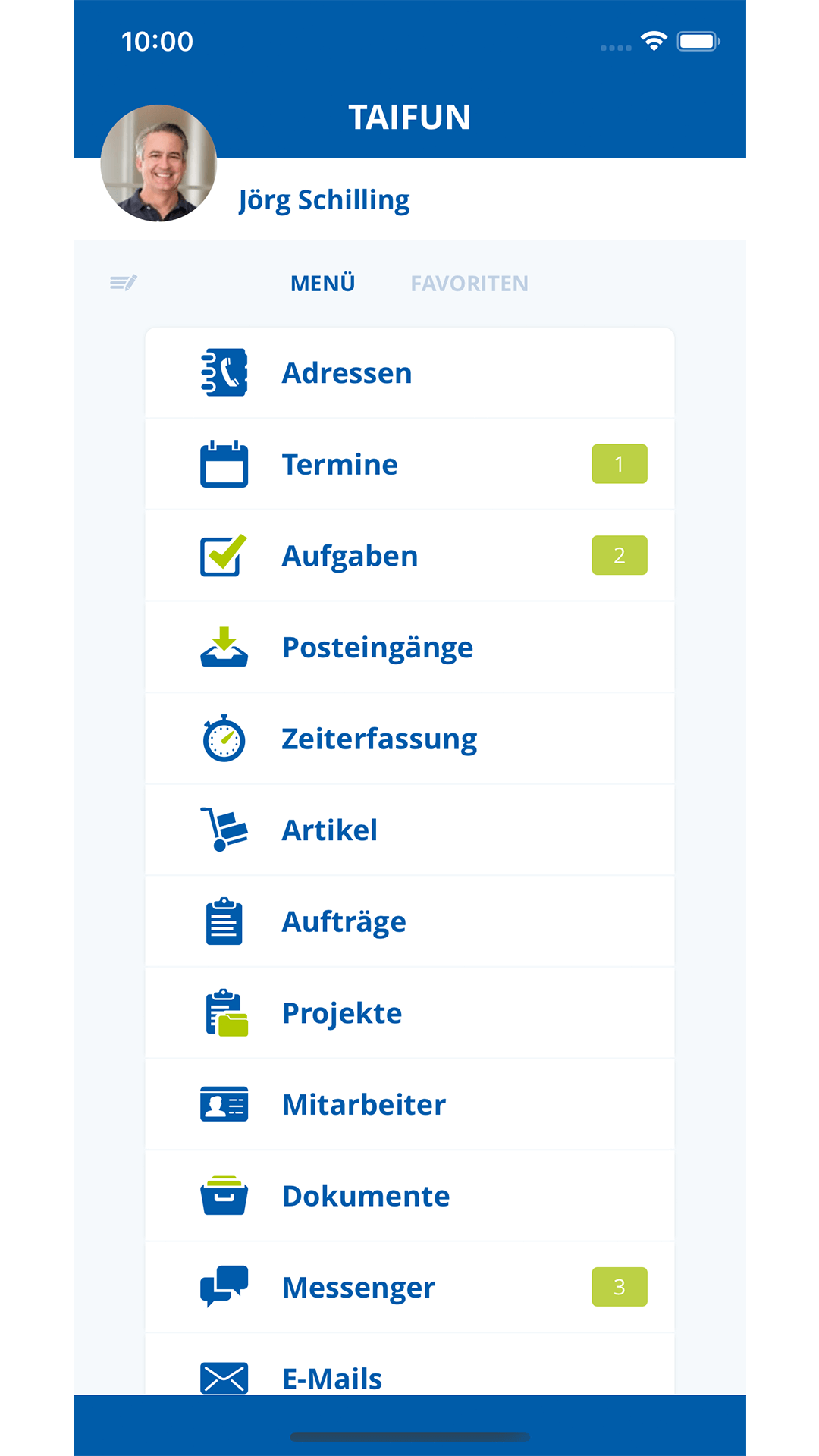 Alles im Blick auf dem iOS-Dashboard