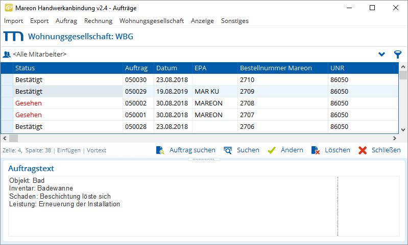Rechnungen und Aufträge an das Mareon-Portal senden