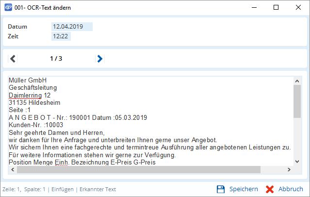 Mit integrierter Texterkennung, Dokumente schneller finden